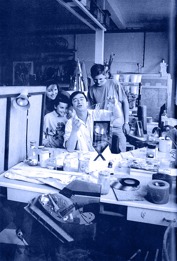 foto s rodinou z ateliéru